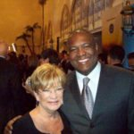 Carolyn LeCroy of the Messages Project with friend and author Rodney Peete at the CNN Awards Show