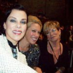 Sitting with Debi Mazar of 'Under the Tuscan Gun' and Amanda Whitis at the CNN 2010 Awards Show.