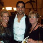 Adam Rodriguez of CSI Miami with Carolyn and Amanda.