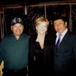 Carolyn with two of the miners from Chili at the show.